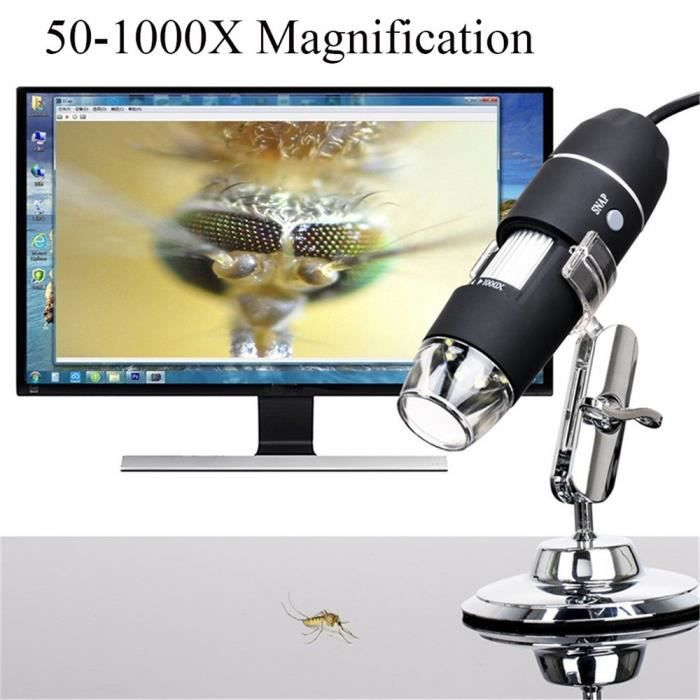 MICROSCOPE OPTIQUE Microscope numérique USB 50x-1000x Grossissement 8