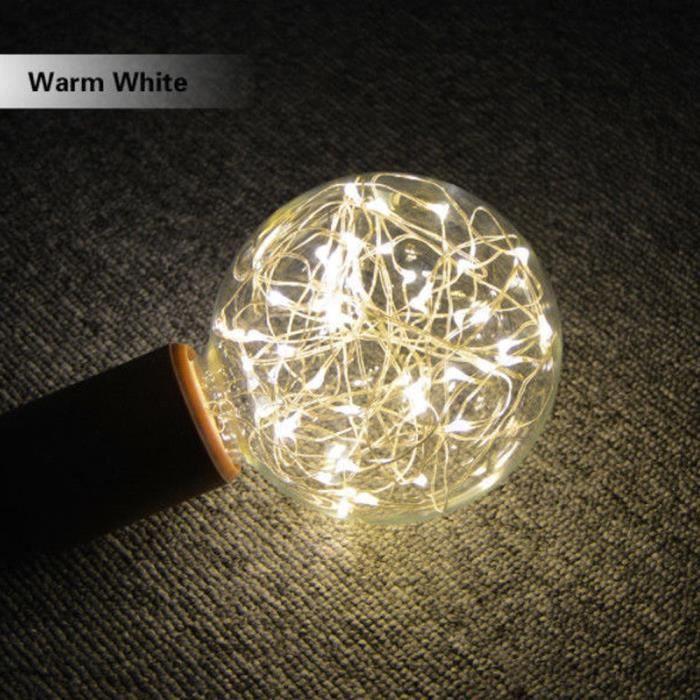 De Led 2970 E27 Fée Starry Jaune Party Poi Ampoule Décor Ye Chaîne Lampe Noël T6Wqnw1F