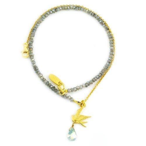 Plb1g-la - Bracelet Femme - Plaqué Or 18 Cts - Perle TRGEL