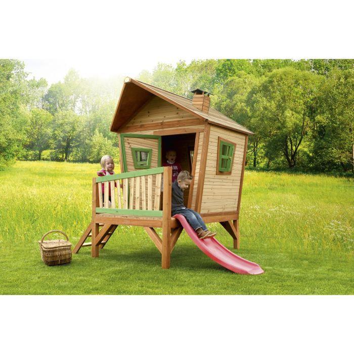 BALANÇOIRE - PORTIQUE AXI Maisonnette Enfant Cabane en bois Iris
