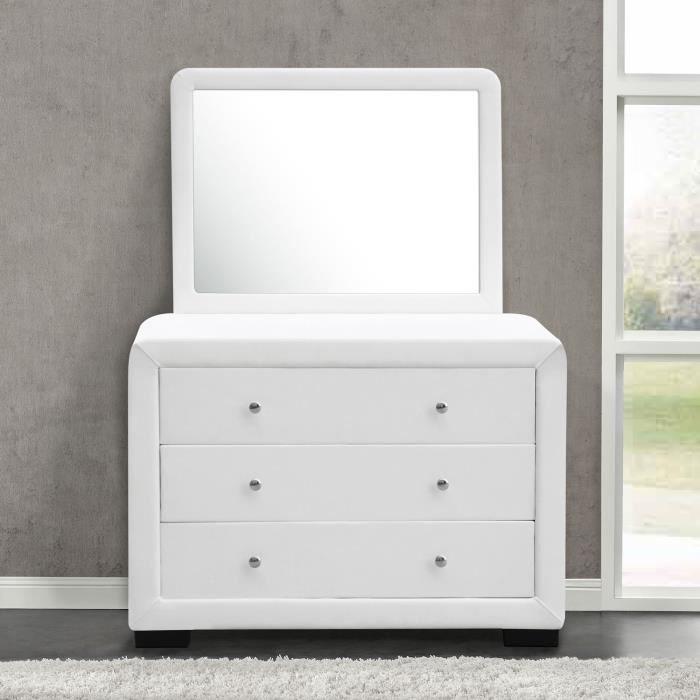 Commode de chambre avec miroir - Achat / Vente pas cher