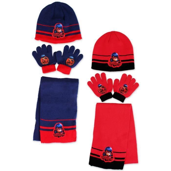 ECHARPE - FOULARD Ensemble bonnet, echarpe, gants MIRACULOUS LADYBUG a7e4ef468bd