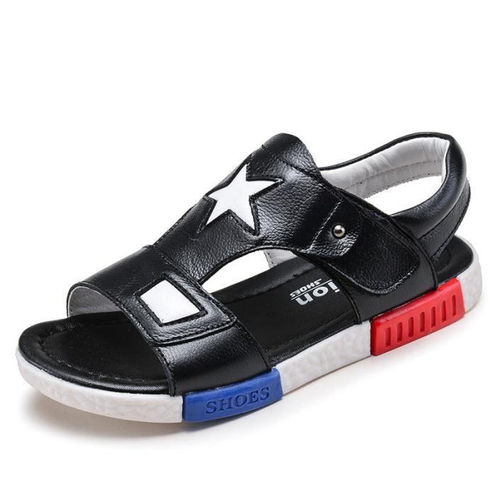cbea15ae57a Enfant Sandales Bébé Garçons fille Mode Chaussures pour enfants Noir ...