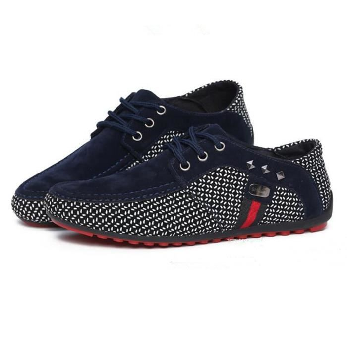 39 46 46 de qualité sport Nouvelle Mode conduite Luxe Basket de Brand Chaussures bleu Taille Marque Plus De Hommes Haut Chaussures TqRnPwUd