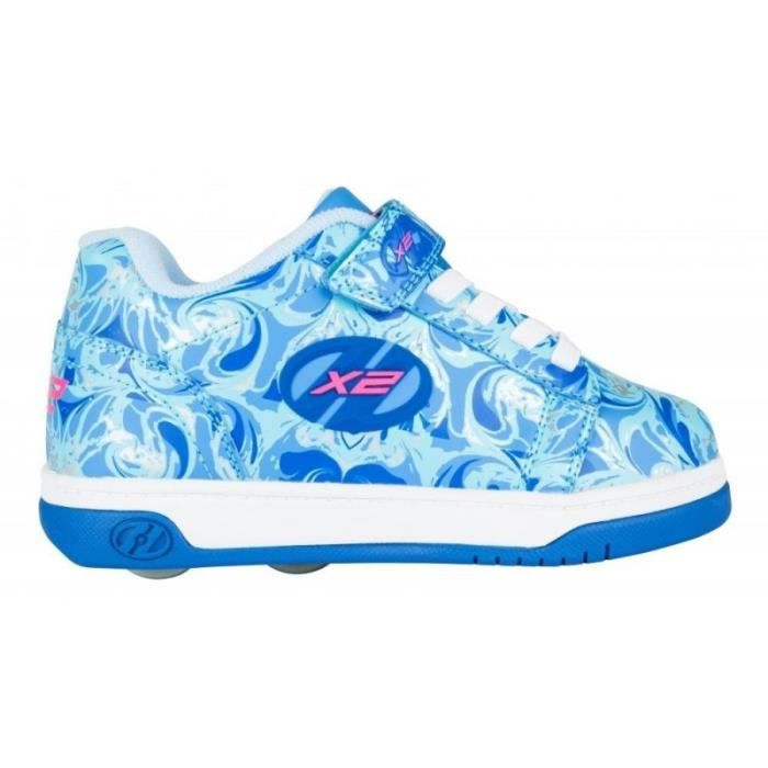 Heelys - Chaussures à Roulettes - X2 Dual Up Bleu - Multi Marble Swirl-31