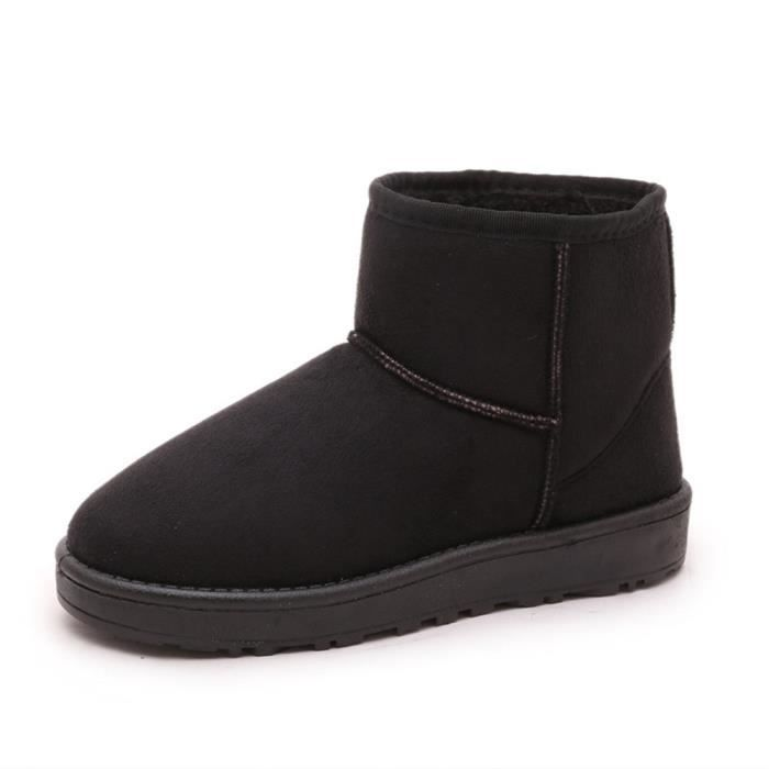 Chaussure Neige Coton 40 Cachemire Hiver Confortable Taille Botte Mode Grande Antidérapant De Bottes Plus Chaud Femme De noir 36 wxn7pHR5qI