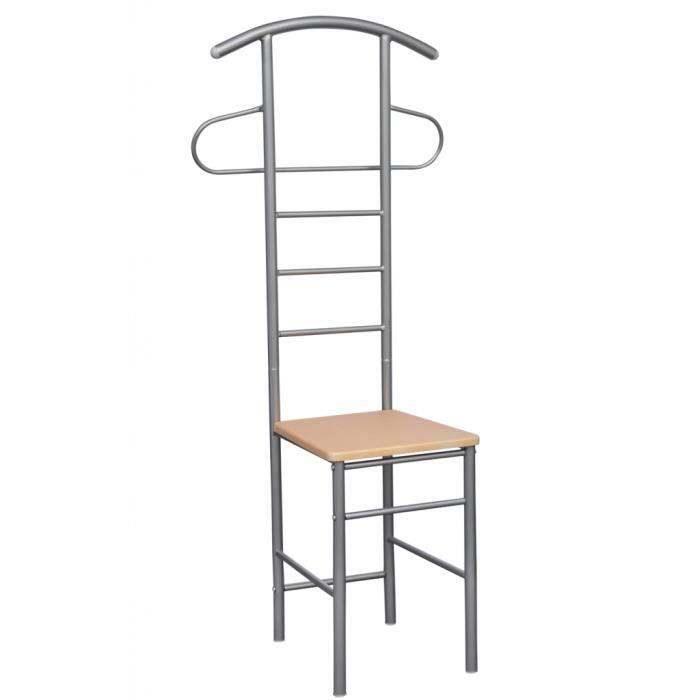 Chaise valet de nuit bois et métal design unique (lot de 2) - Achat ...