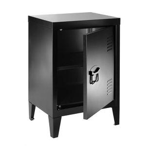 Armoire metal industriel achat vente pas cher for Petite armoire noire