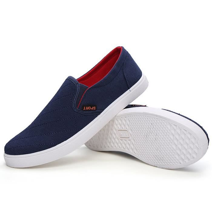 Chaussures En Toile Hommes Basses Quatre Saisons Classique LKG-XZ114Bleu42 TKDDJ