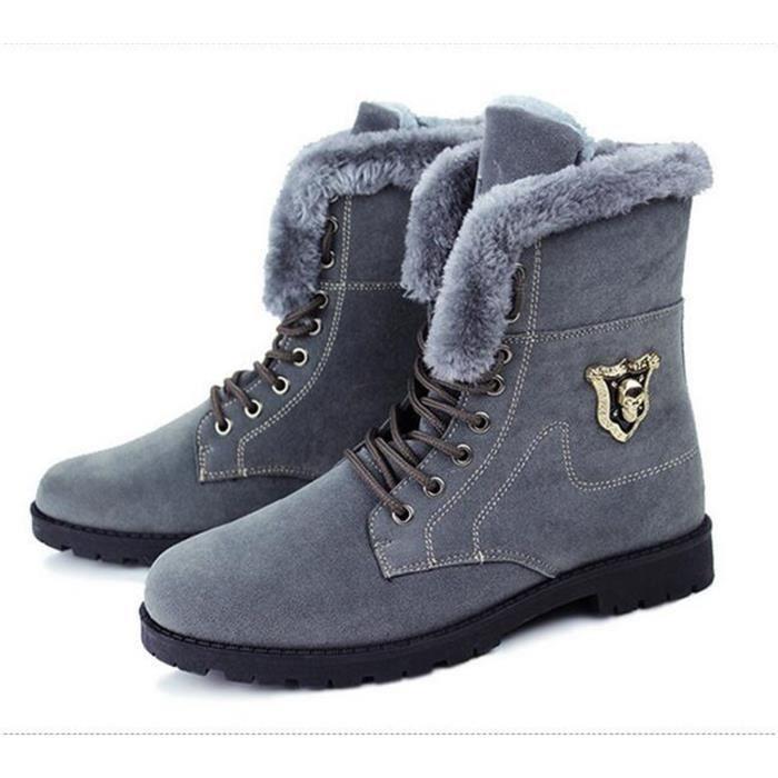 hommes bottes 2016 nouvelle arrivée bottes d'hiver de neige chaude bottes de mode plate-forme cheville bottes hommes chaussures SREXc