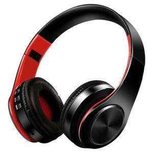 Système d'écoute Casque Bluetooth Stéréo Sans Fil, Casque Audio Pli