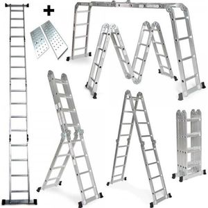 ECHELLE - ESCABEAU Échelle multifonction Pliable en aluminium 470Cm 6