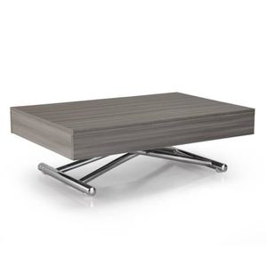 TABLE BASSE Table basse relevable CUBE chêne gris extensible 1
