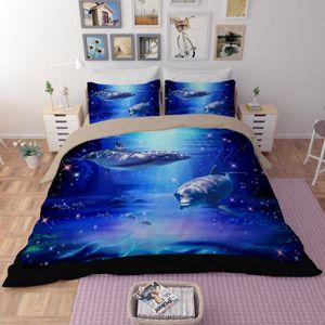 housse de couette dauphin achat vente housse de couette dauphin pas cher cdiscount. Black Bedroom Furniture Sets. Home Design Ideas