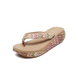 CHAUSSON - PANTOUFLE Tongs Pantoufles chaussures femme Sandales été Sty