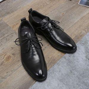 DERBY Chaussures de ville homme business pointu vernis e