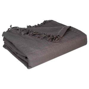 jetee de lit boutis 230 250 gris achat vente pas cher. Black Bedroom Furniture Sets. Home Design Ideas