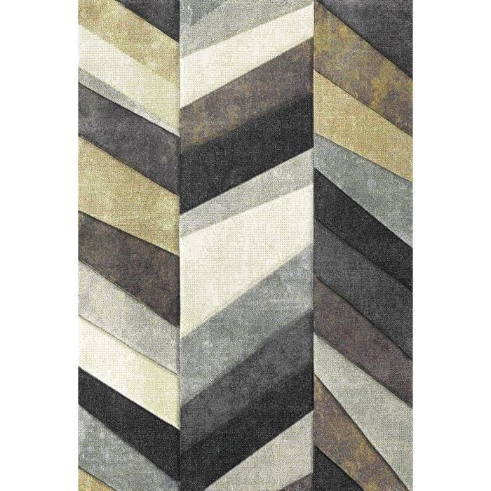 belis tapis de salon contemporain 200x290 cm beige gris et blanc. Black Bedroom Furniture Sets. Home Design Ideas