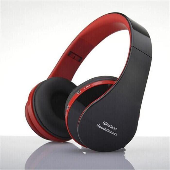 Ecouteur Bluetooth Sans Fil Nouvelle Mode Sport Qualité Supérieure Écouteur Rouge