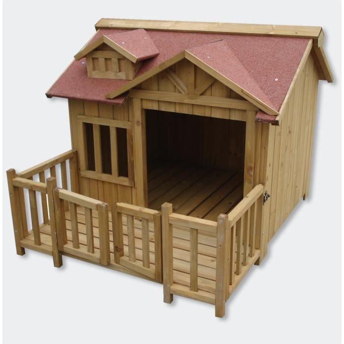 Niche pour chien en bois cage parc 93x99x78cm - Achat
