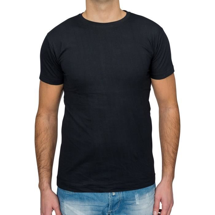 Manches Pour Courtes Shirt Homme Rond T 100Coton Col Shell WEIDH29Y