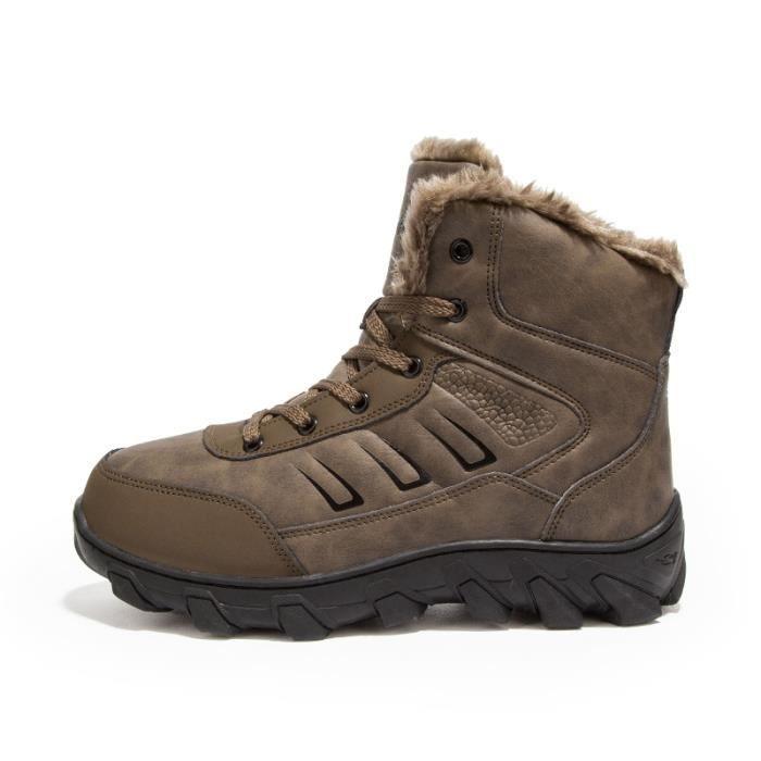 Chaussures homme Bottes courtes Bottes avec coton Bottes pour l'hiver Chaussures étanches Bottes mode Chaussures chaudement