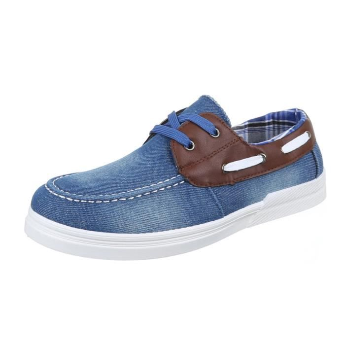 homme chaussures flâneurs loisirs chaussures Slipper Used optique Bleu clair 40