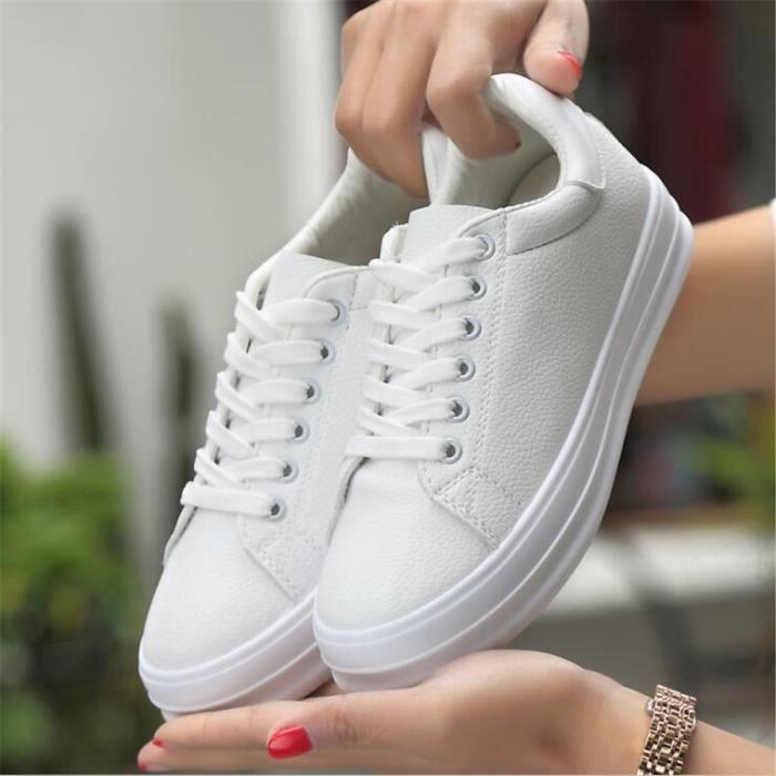 cca26be345f3c Basket Mode Femme De Marque De Luxe personnalité Les chaussures de loisirs  Femmes Nouvelle Mode chaussures plates Plus De Blanc Blanc - Achat   Vente  basket ...