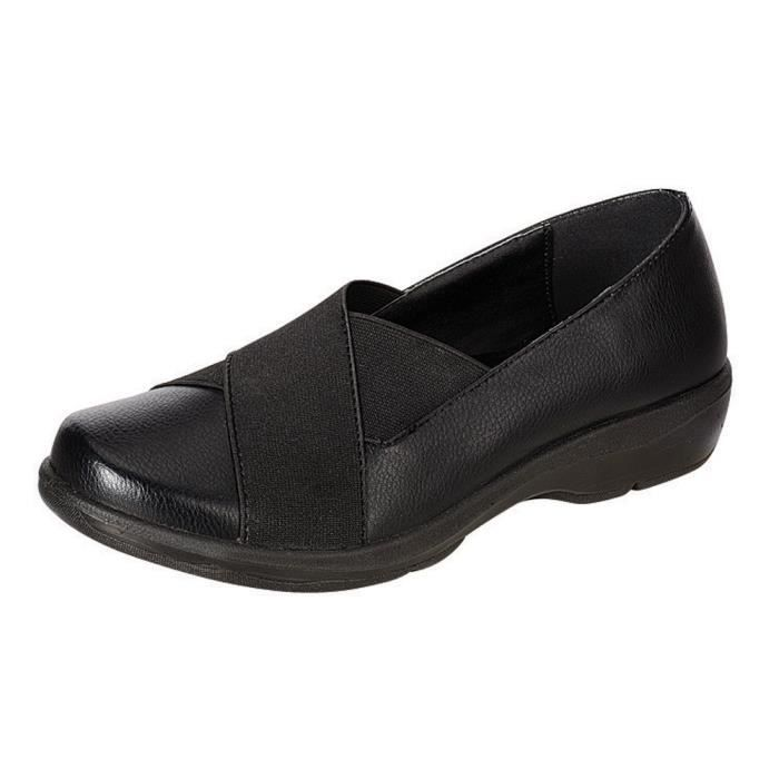 Cross Over stretch Slip-on Confort Chaussures plates L75K7 Taille-37