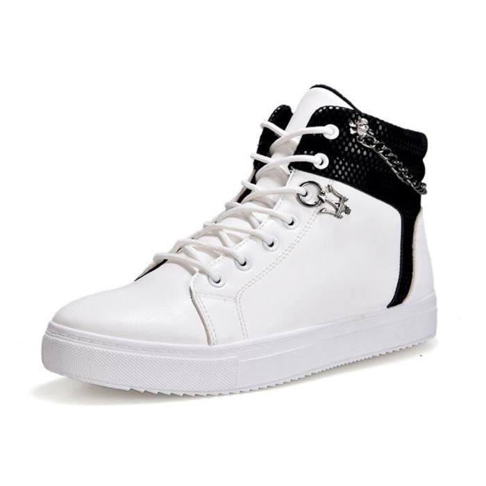 Chaussures montantes Mode Chaussure Homme Basket Homme Skate Shoes Blanc