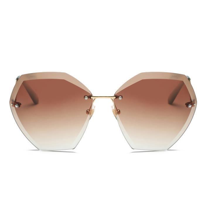 An-1119Femmes Hommes Summer Retro Vintage place dégradé de couleur unisexe lunettes de mode Avi cafe