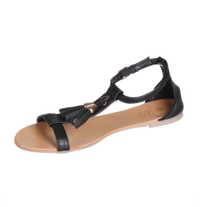Sandales femme à franges