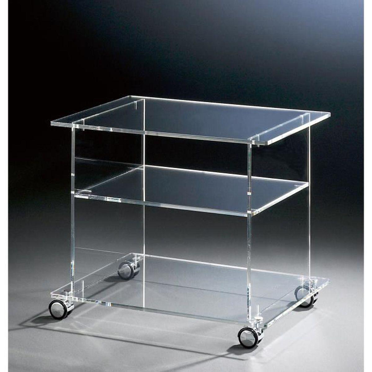 meuble tv mobile en acrylique haute qualit 4 roulettes chromique transparent 60 x 45 cm h. Black Bedroom Furniture Sets. Home Design Ideas