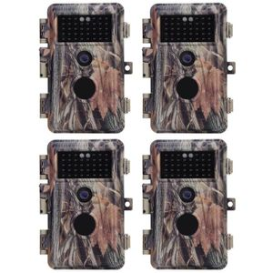 CHASSE - PISTAGE BlazeVideo 4 pack Caméra Chasse Trail Cam, vidéo d
