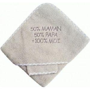 SORTIE DE BAIN Sortie de bain bébé 50% Maman 50% Papa = 100% Moi