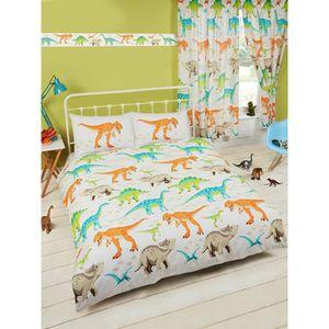housse de couette 200x200 dinosaure achat vente pas cher. Black Bedroom Furniture Sets. Home Design Ideas