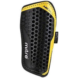 PROTÈGE-TIBIA - PIED Mitre Aircell Pro Protège-tibias noir Noir/jaune g