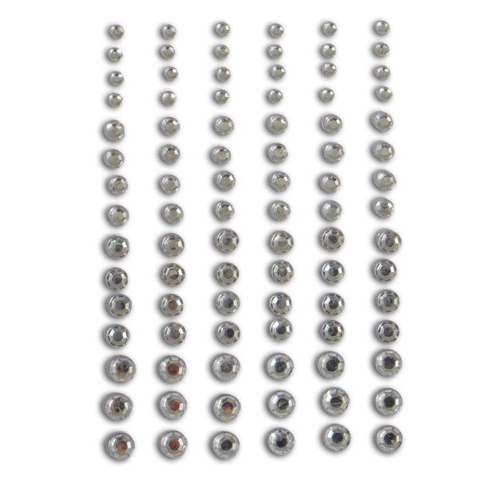 TOGA Pack de 90 Strass autocollantes 'Diamants'