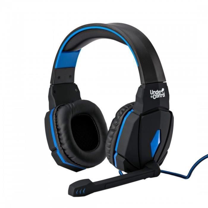 Casque filaire pour PS4 Proxima Plus Noir et bleu