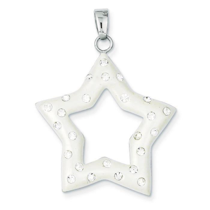 Rhodium argent Sterling et cristal Ferido Stellux-Pendentif étoile