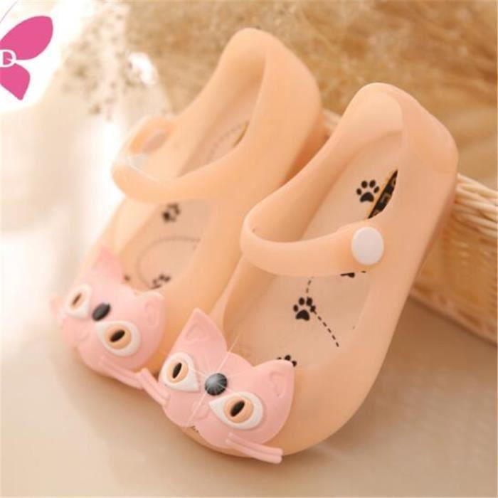 Sandales Filles Marque De Luxe Mode Classique Chaussure Plus De Couleur Chaud Doux Sandale Plage Antidérapant Mignon Taille 24-29