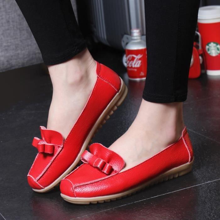 Plates Femme En Mocassins 5 Cuir Enfiler Femmes Vritable Mre Flats Chaussures Couleurs fqRvdwq