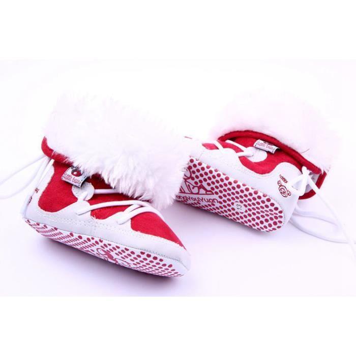 bc525fd5e1bb3 8379 petit Crochet Fille Garçon Neige Knit Boot Toison D hiver bottes Botte  Chaussures Préchauffage Tout ...