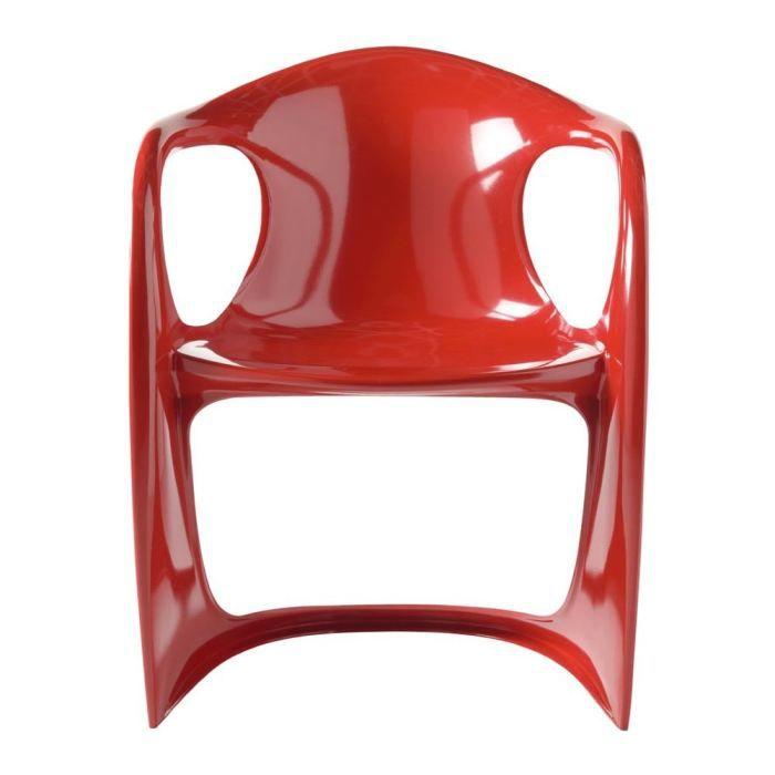 CHAISE Chaise Design Rouge Vague Lot De 4