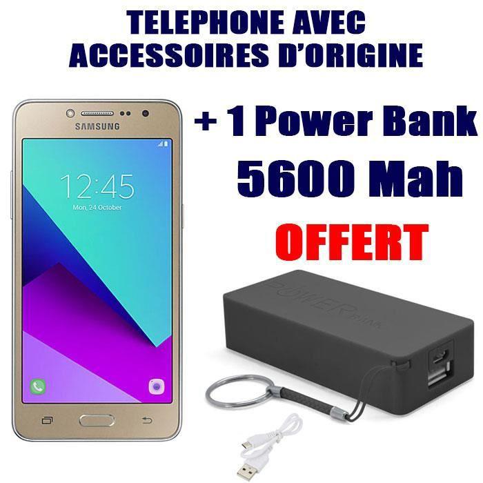 Samsung Galaxy J2 Prime Gold Power Bank 5600 Mah OFFERT