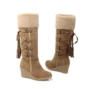 Bottes Femmes Hiver Nouvelle Mode Peluche Boots BLKG-XZ023Marron35 FWeyzK43K