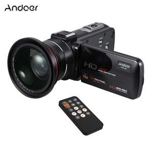 CAMÉSCOPE NUMÉRIQUE Andoer HDV-Z20 1080P Plein HD 24MP WiFi Caméra Vid