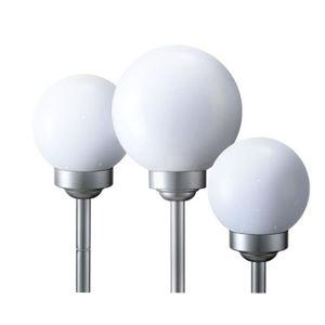 BALISE - BORNE SOLAIRE  3 x lampe solaire LED boule luminaire extérieur bl