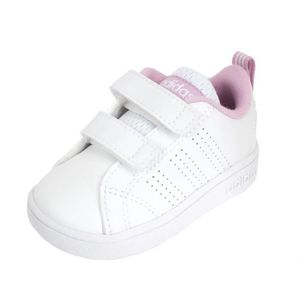 BASKET Chaussures velcro Advantage baby  blc/rse - Adidas