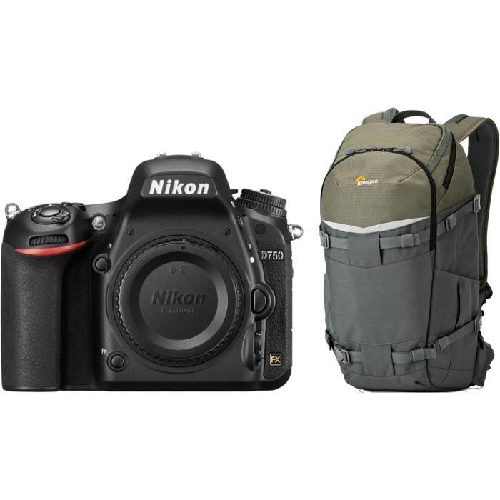 NIKON D750 Boîtier nu appareil photo Réflex + Sac à dos